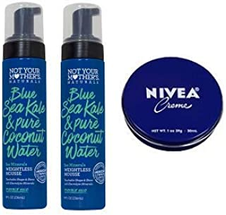 product image for Not Your Mother's 2 Pack Blue Sea Kale & Pure Coconut Water Sea Minerals Weightless Mousse 8 Oz.+ Travel Size Body Cream 1 Oz.
