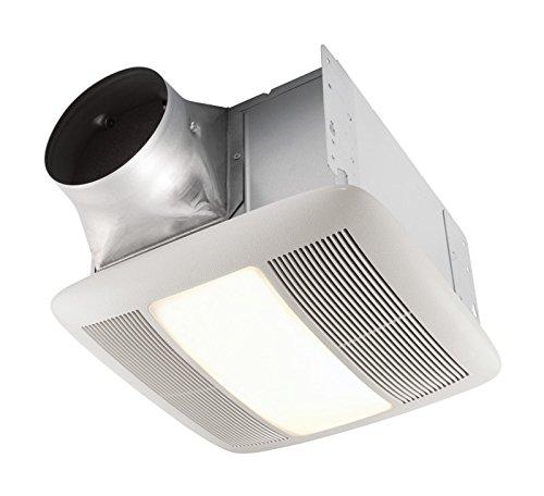 Textured White Bath Exhaust - Nutone QTXEN150FLT Ultra Silent Bath Fan with Light and Nightlight Energy Star