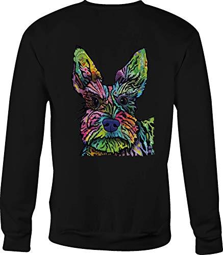 (Hoody Crewneck Sweatshirt Yorkie Terrier for Men or Women - XL Black)