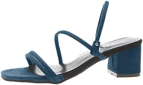 ボコダダ(Vocodada)サンダル 通勤靴 おしゃれ 流行 カジュアル 旅行 歩きやすい 便利 ゴムソール 海 ファッション ストリップフラットシューズ 靴 美脚 彼女 厚底 無地 痛くない 太ヒール 多色 学生 サラリーマン pu製 くさび靴
