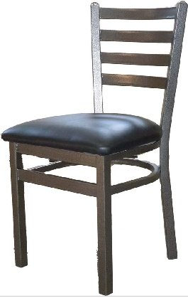 Oak Street Dining Chair Metal Ladder Back seat to be specified silvervein Finish – SL2160SV