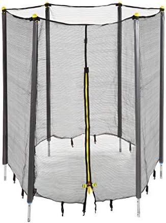 Relaxdays Filet de s/écurit/é Trampoline Filet de Protection Trampoline Rond Barres Accessoire Noir