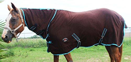 Challenger Horsewear 78'' Horse Sheet Polar Fleece Cooler Exercise Blanket Wicks Moisture 4386N by Challenger Horsewear