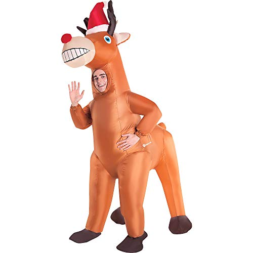 Inflatable Deer Costume (AFG Media Ltd Inflatable Christmas Reindeer Costume for Adults, One)