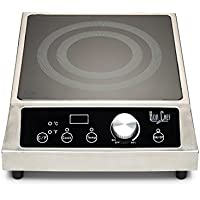 Bon Chef 12084 Portable Induction Range, 208-240V, 3500W, 13-1/2 Length x 17-19/32 Width x 4-29/32 Height