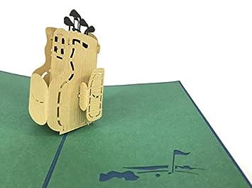 Palos de golf en una bolsa para jugar al golf con amigos 3D ...