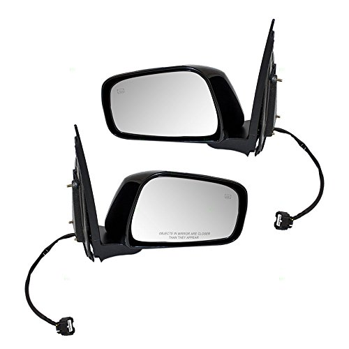 Driver and Passenger Power Side View Mirrors Heated Replacement for 05-18 Nissan Frontier 05-12 Pathfinder 96302-EA19E 96301-EA19E AutoAndArt