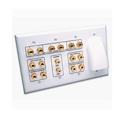 Vanco HTWP72BW Whole House Audio and 7.2 Home Theater Wall Plate