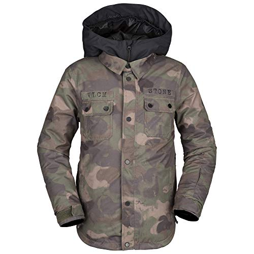 Volcom Boys' Big Neolithic Insulated 2 Layer Shell Snow Jacket, Camouflage, Small