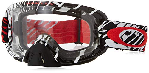 Oakley O2 MX Men's Goggles (Skull Rushmore Red Frame/Clear ()