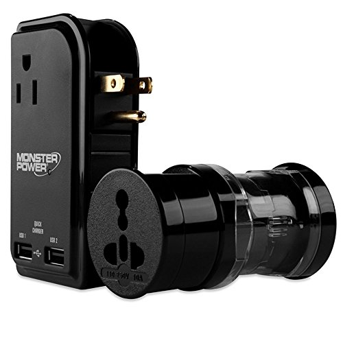 Monster 121776 Global AC Power Adapter Kit With USB Charging Outlets ()