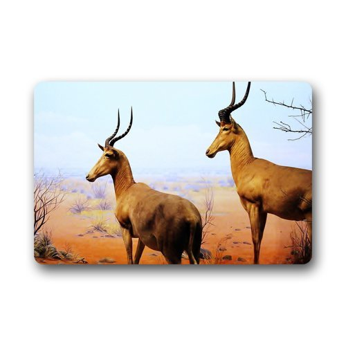 Antelope Background Doormat/Gate Pad for outdoor,indoor,bathroom use!23.6inch(L) x 15.7inch(W)