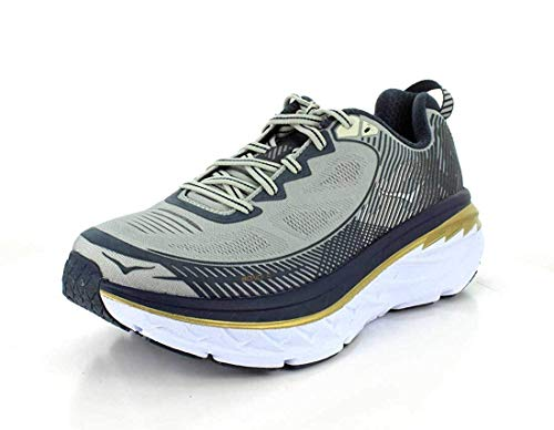 Hoka One One Mens Bondi 5 Running Shoe,  Cool Gray / Midnight Navy - 12 D(M) US
