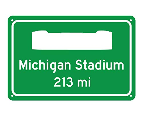- CELYCASY Michigan Wolverines Michigan Stadium Miles to Stadium Highway Road Sign Customize The Distance