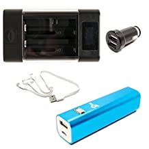 Canon PowerShot A3400 IS Charger with 3000mAh Portable External Battery Charger, Dual USB Car Plug & Multiple USB Cable - Replacement Canon NB-11L Digital Camera Charger