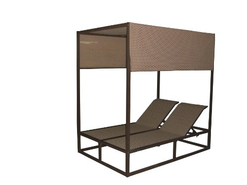 Panama Jack Island Breeze Canopy Daybed with Removable Top, Espresso (Espresso Canopy Bed)