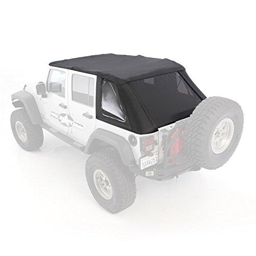 Smittybilt 9073235 Bowless Combo Soft Top (2012 Jeep Wrangler Tinted Soft Top Windows)