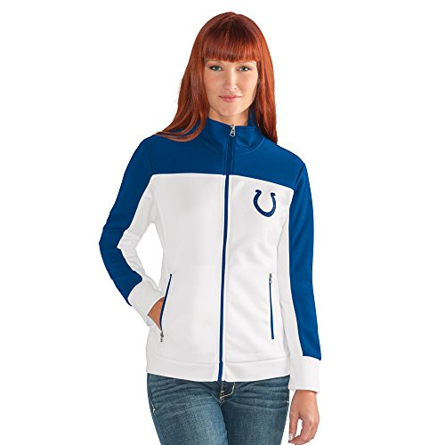 GIII For Her NFL Indianapolis Colts Women's Play Maker Track Jacket, Medium, (Indianapolis Colts Jacket)