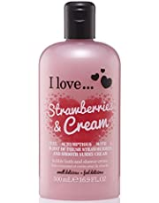 I Love. Strawberries & Cream Bubble Bath And Shower Creme 500ml