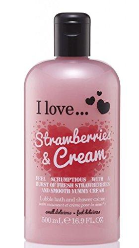 I Love... Strawberries & Cream Bubble Bath And Shower Creme 500ml 500ml Bath Cream