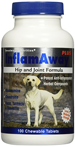 InflamAway Plus Hip and Joint Formula for Dogs - 100 Tablets