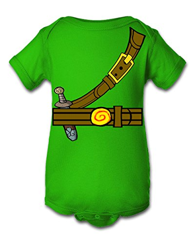 Tee Tee Monster Baby Boys'Zelda Link Inspired Onesie 6 Month Green -