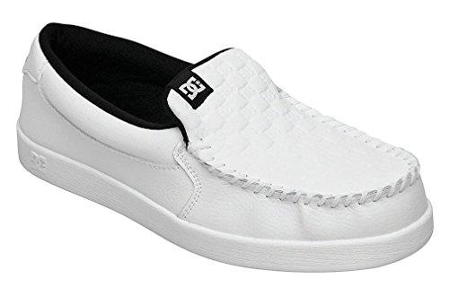 DC Men's Villain TX Skate Shoe,White/Monogram,9 M US