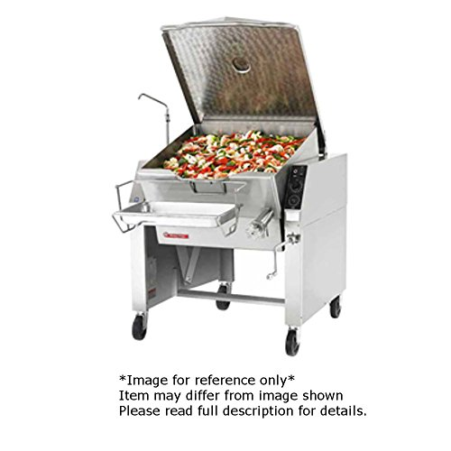 Market Forge 40P-STEL Electric Tilting Skillet 40 Gallon Capacity with Open Leg Frame Base & Manual Tilt