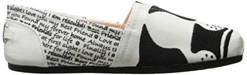 Bobs Bobs Black Women's White Skechers Save Plush Flat Face 64WxWnOp