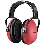 Mpow Kids Earmuffs / Ear Defenders Comfortable Kids Safety Ear Muffs Shooter Hearing Protection with Adjustable Headband Noise Reduction for Professional Soundproofing / Noise Reduction,Shooting Sporting,Races Shopping,Centers Shooting ,Cutting Gardening ,Plant Working for Children, Infants, Small Adults, Women -Red