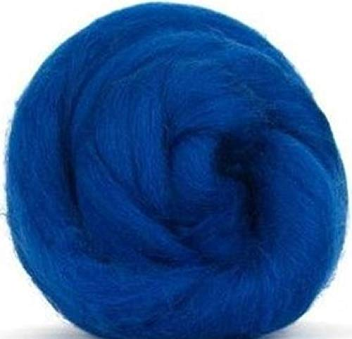 4 oz Paradise Fibers 64 Count Dyed Fusion (Blue) Merino Top Spinning Fiber Luxuriously Soft Wool Top Roving for Spinning with Spindle or Wheel, Felting, Blending and Weaving