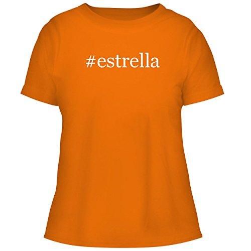 Bh Cool Designs  Estrella   Cute Womens Graphic Tee  Orange  Large