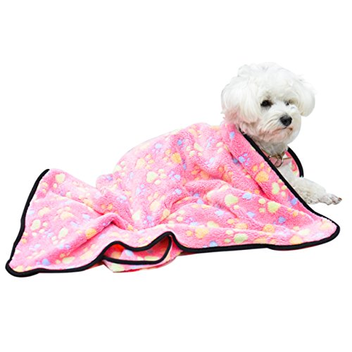 EXPAWLORER Pet Blanket for Small Cats & Dogs Thick L 10476cm Pink
