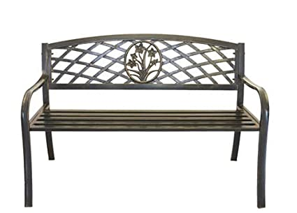 Amazon Com Metal Flower Bouquet Park Bench Cast Iron Bench For