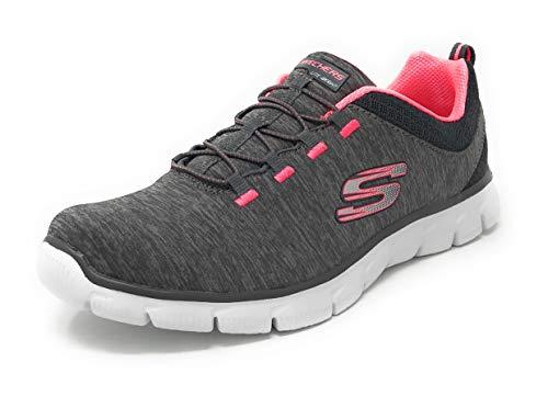 Skechers Sport Women's Empire Fashion Sneaker (7.5 M US, Charcoal/Coral Mine All Mine)