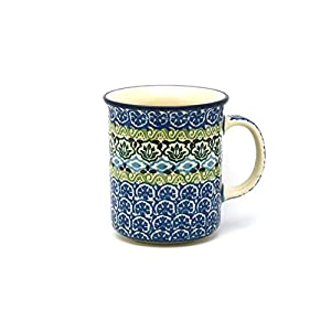 Polish Pottery Mug – Straight Sided – Tranquility