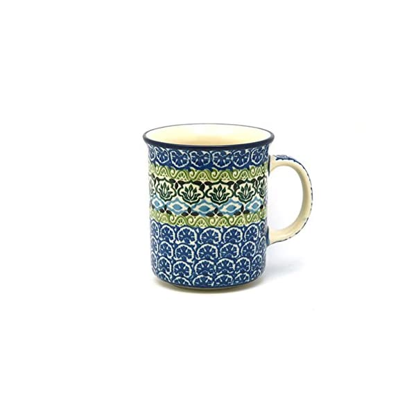 Polish Pottery Mug – Straight Sided – Tranquility