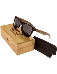 Madera de Nogal Wayfarer anteojos de sol Para Hombres & Mujeres con lentes polarizadas gowood