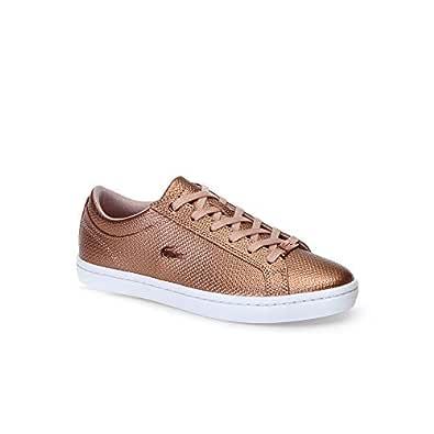 Lacoste Straightset 318 2 Women's Fashion Shoes, LT PNK/WHT, 5 US