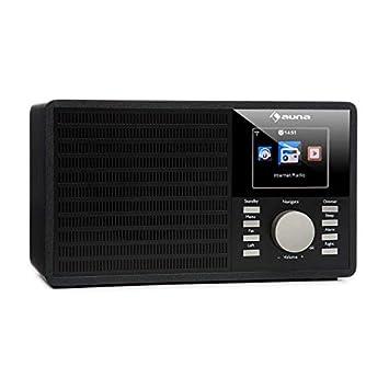 auna • IR-160 • Radio por Internet • Alarma • WiFi WLAN • USB • MP3 • Entrada AUX • Streaming Música • UPnP DLNA• Pantalla TFT de 2,8