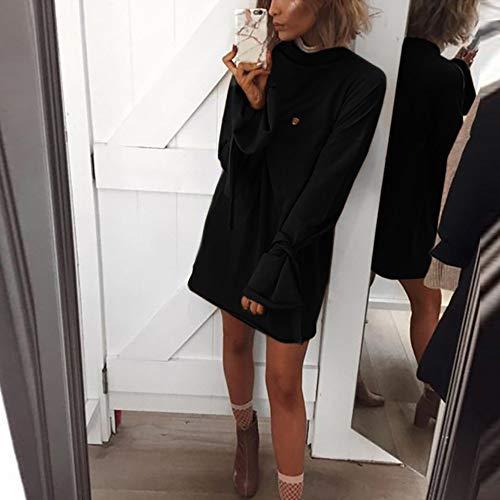 Automne Sexy Shirt Fille Tous Dcontracte t Chic et Bureau Blouse Haut Mode en Chemise Manches 1 Noir Longue Sexy Vrac Vetements Les T Slim Femmes Tops OVERMAL Jours SAfx8C