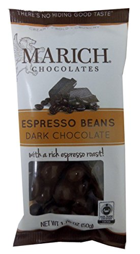 Marich Chocolate Espresso Beans, 1.76-Ounce (Pack of 12)