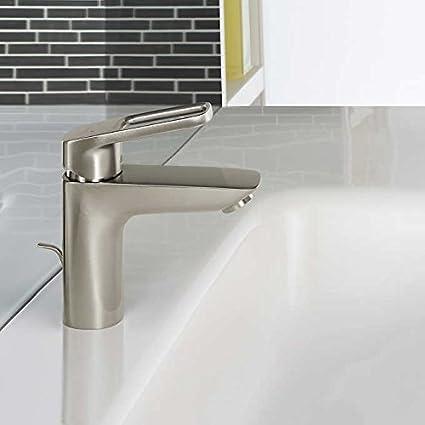 Hansgrohe Logis Loop Single Hole Bathroom Faucet, Brushed Nickel ...