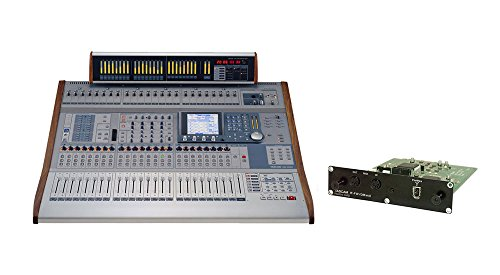 Tascam DM-4800 Digital Mixer with IF-FW/DMmkII FireWire Audio Interface Card and MU-1000 Meterbridge by Tascam