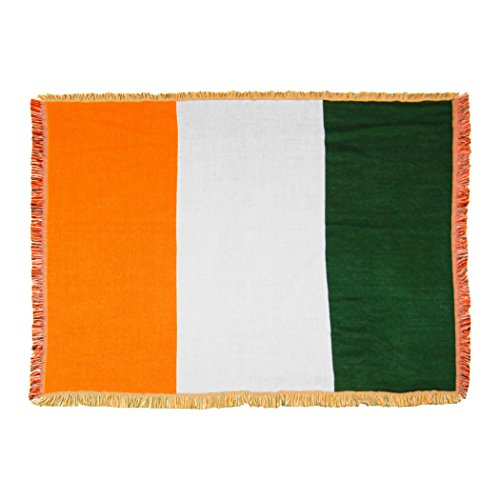 Northwest St. Patrick's Day,Irish Flag Woven Tapestry Throw Blanket, 48