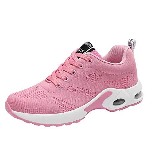 Volador Malla Tejido Rosado Casual Mujer Calzado Transpirable Deportivo Zapatillas Zapatos De Quicklyly Y Corriendo w7pqAPgxB
