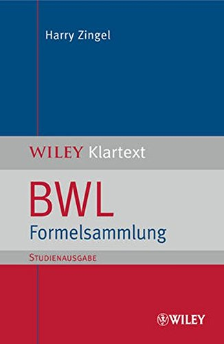 BWL Formelsammlung (SA) (WILEY Klartext)