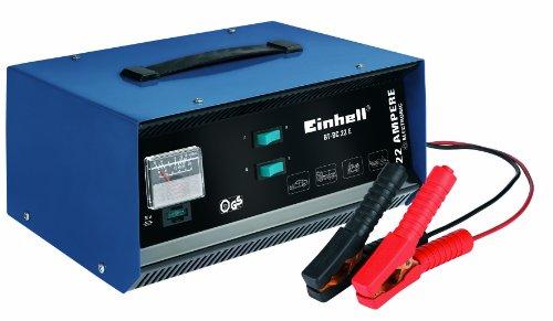 Einhell Kfz Batterieladegerät BT-BC 22 E (für Bleiakkus von  5 bis 300 Ah, 12 V Ladespannung, eingebautes Amperemeter, Ladeelektronik, Tragegriff)