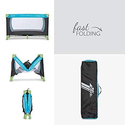 Hauck Kinderreisebett Dream N Play / inklusive Einlageboden und Tasche / 120 x 60cm / ab Geburt / tragbar und faltbar, Wasser (Blau) 4