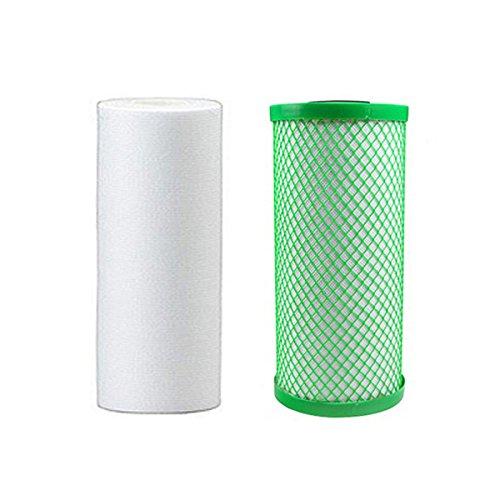 Aquatic Life 10'' x 4.5'' 5-Micron Sediment and FX-VOC Solid Carbon Pre-Filter Replacement Cartridge Bundle